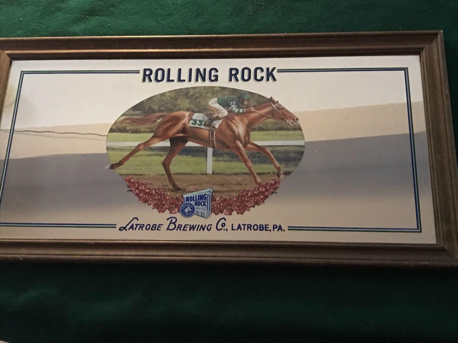 Rolling Rock Beer Mirror Horse Racing Rolling rock beer