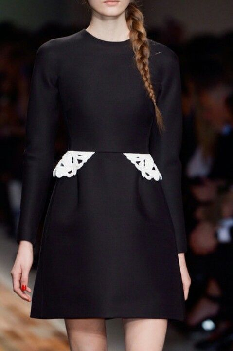 Valentino dress. Black white applique