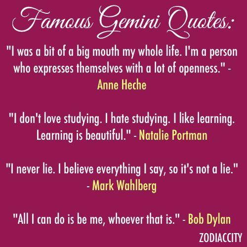 Famous Gemini Quotes. QuotesGram | Gemini quotes, Gemini ...