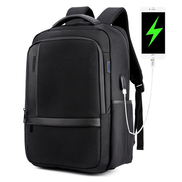 Men Oxford Anti-shock Waterproof Backpack Casual Travel Bag With ...