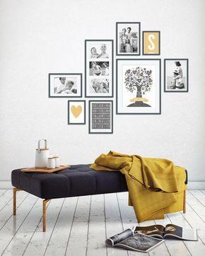 wie plane ich eine wandcollage hier findest du hilfe selbst gemacht pinterest w nde. Black Bedroom Furniture Sets. Home Design Ideas