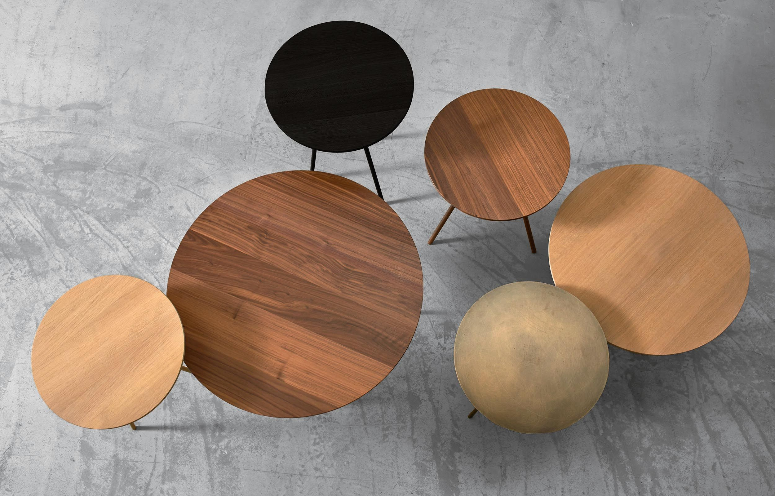 DRIP side tables by more. Available in oak, walnut and brass. Design ...