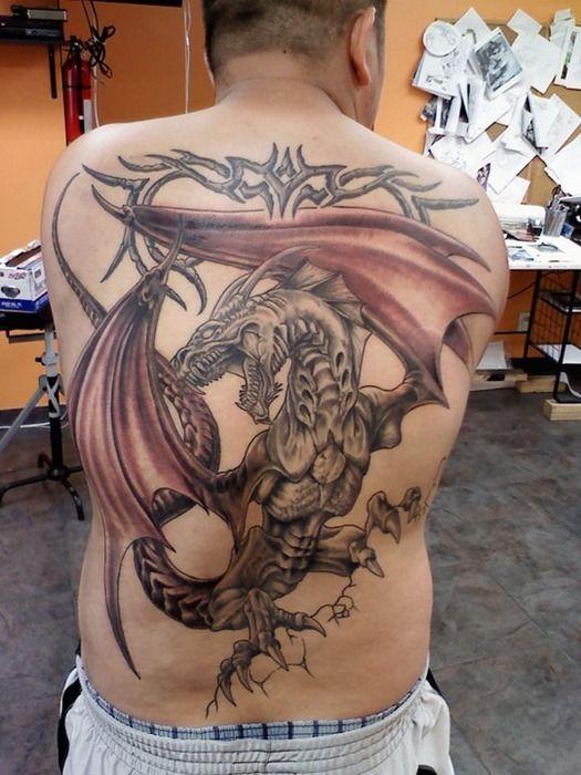 New Back Dragon Tattoo Design For Men Jpg 525 700 Dragon Tattoos For Men Dragon Tattoo Designs Back Tattoos For Guys