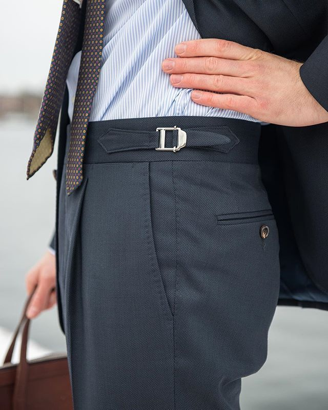 Robs H Quot Single Pleated Trousers With Side Adjusters