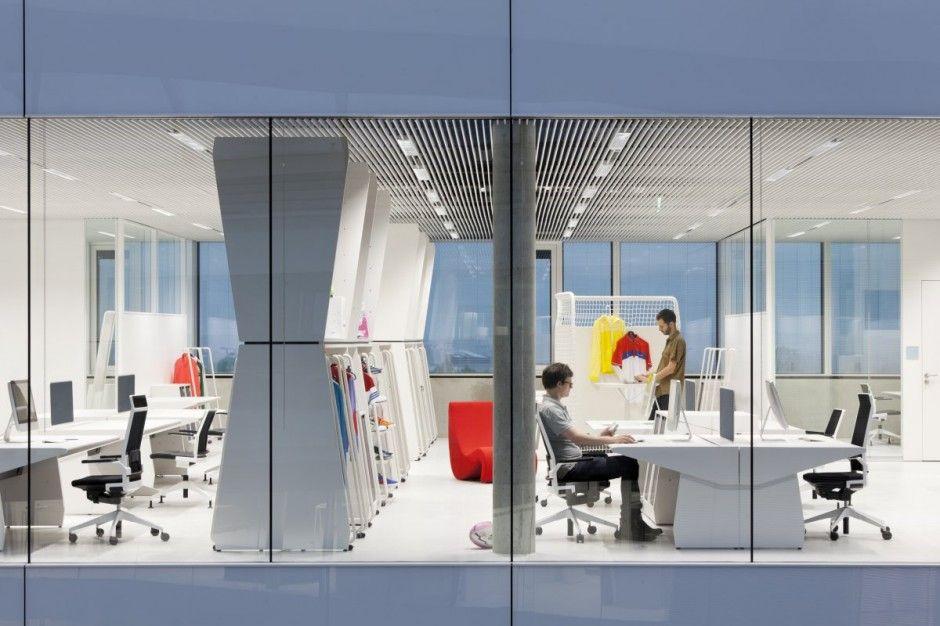 modern adidas office interior design by kinzo decor photos gallery