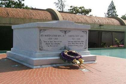 Rev Dr Martin Luther King Jr And Coretta Scott King Gravesite