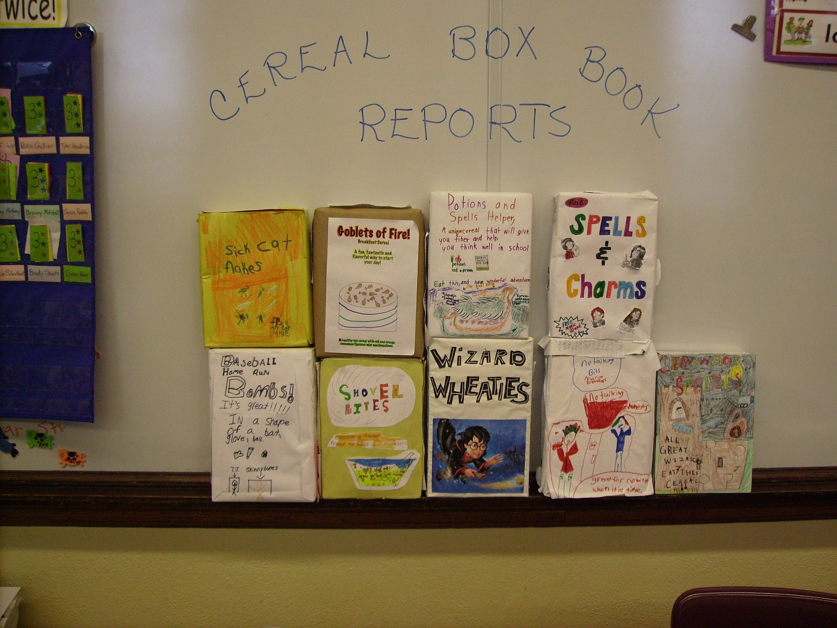 March book report projects cereal book report projects and books cereal box book reports examples of book report projects photo from the following website ccuart Gallery