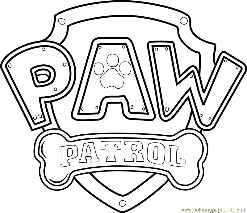 paw patrol badge template pdf | paw patrol logo coloring page ... - Firefighter Badges Coloring Pages