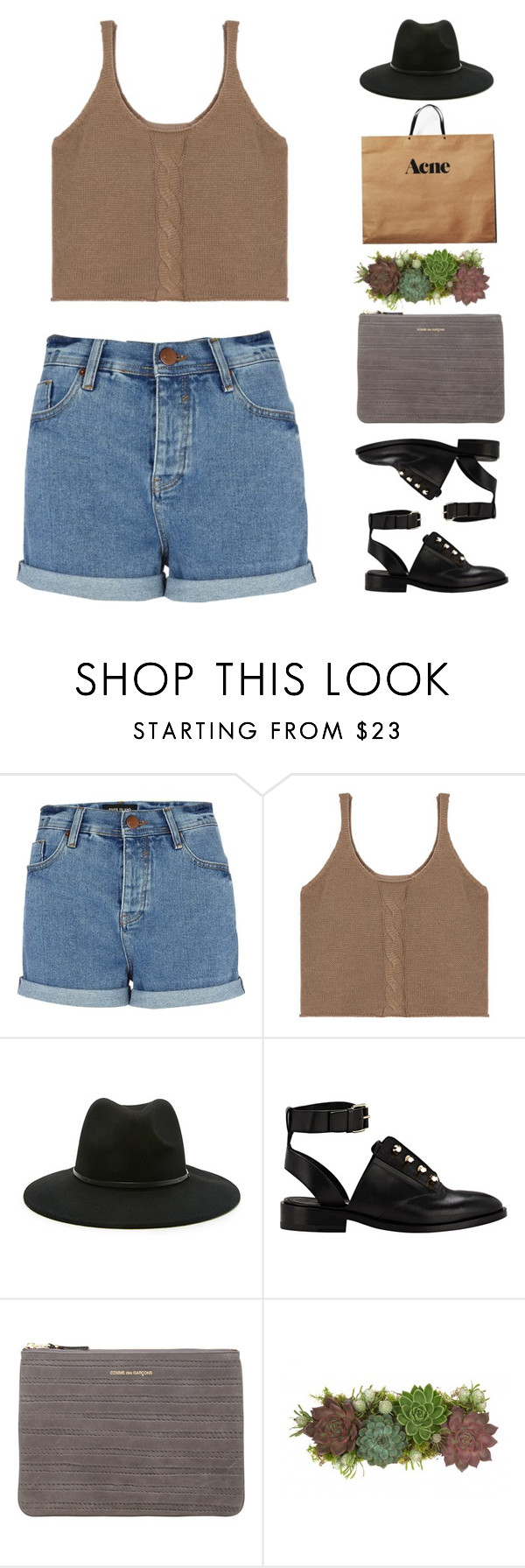 """""""Untitled #2146"""" by tacoxcat ❤ liked on Polyvore featuring River Island, Forever 21, Balenciaga, Comme des Garçons, Acne Studios, Jayson Home, women's clothing, women, female and woman"""