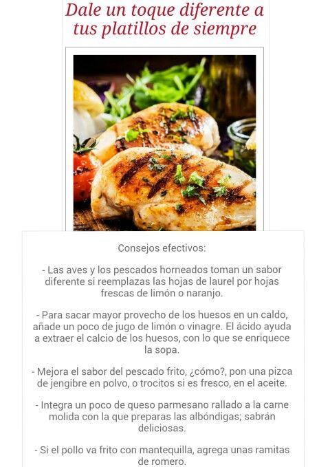 Un Toque Diferente A Tus Platillos Cooking Recipes Food