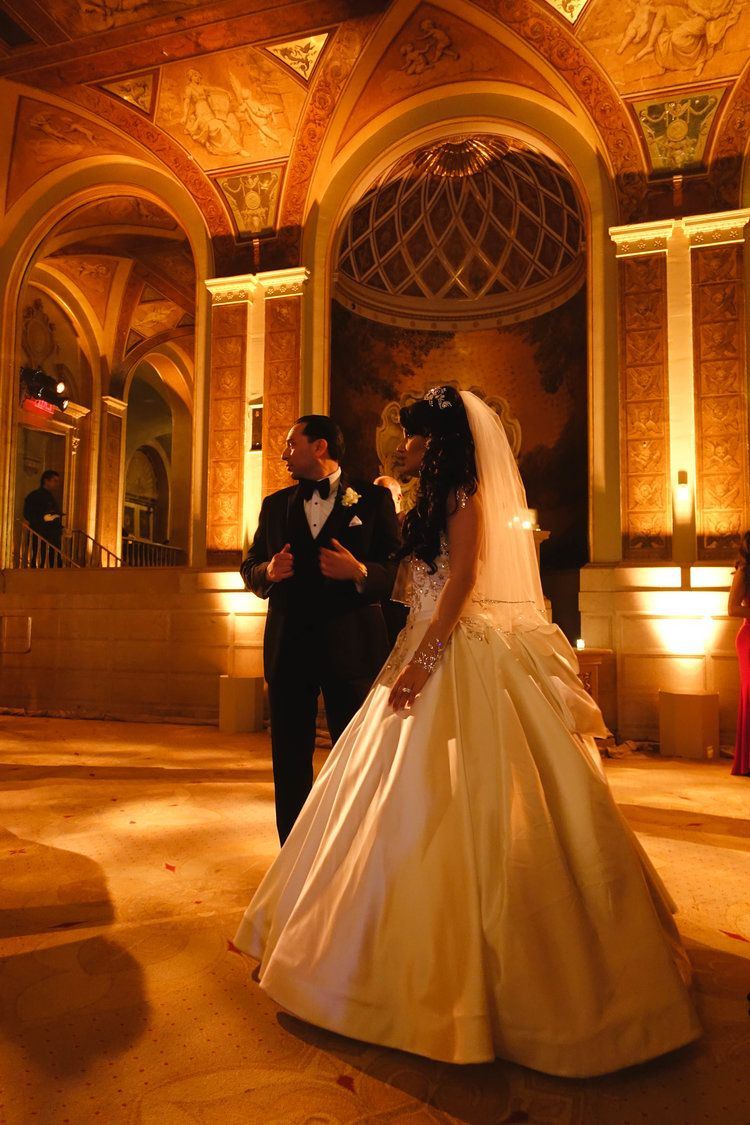 wedding ceremony new york city%0A My sister and her lovely husband on their wedding day at The Plaza Hotel   in New York City  Jessica is wearing a  PninaTornai wedding gown