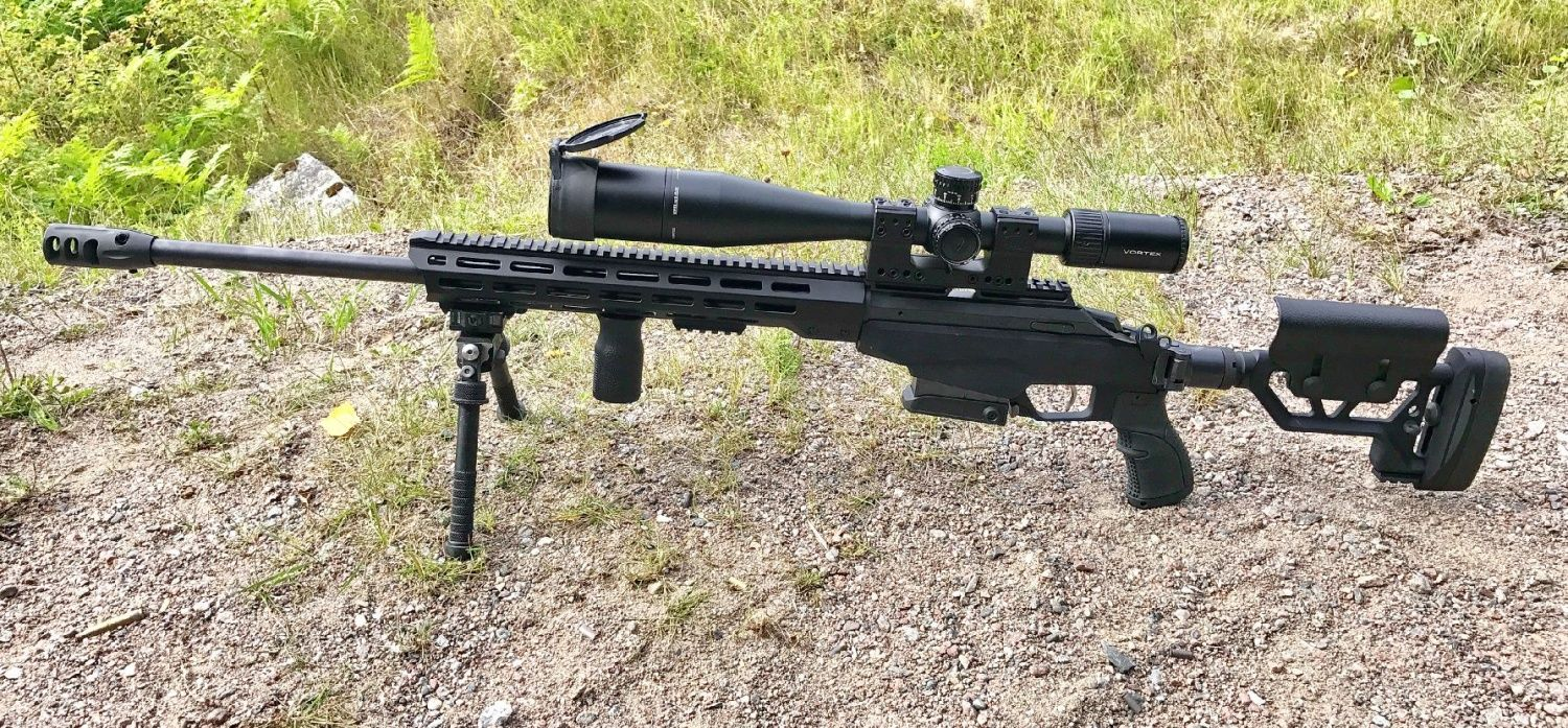 Tikka T3x with Vortex and Atlas bipod  Note the MLOK and Magpul