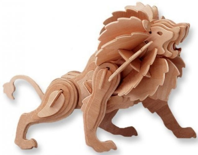 3d Lion Wooden Jigsaw Puzzle 57 Piece Animal Art Toy Diy Kit Children Paint All4lessshop Wooden Puzzles Art Toys Diy Educational Crafts