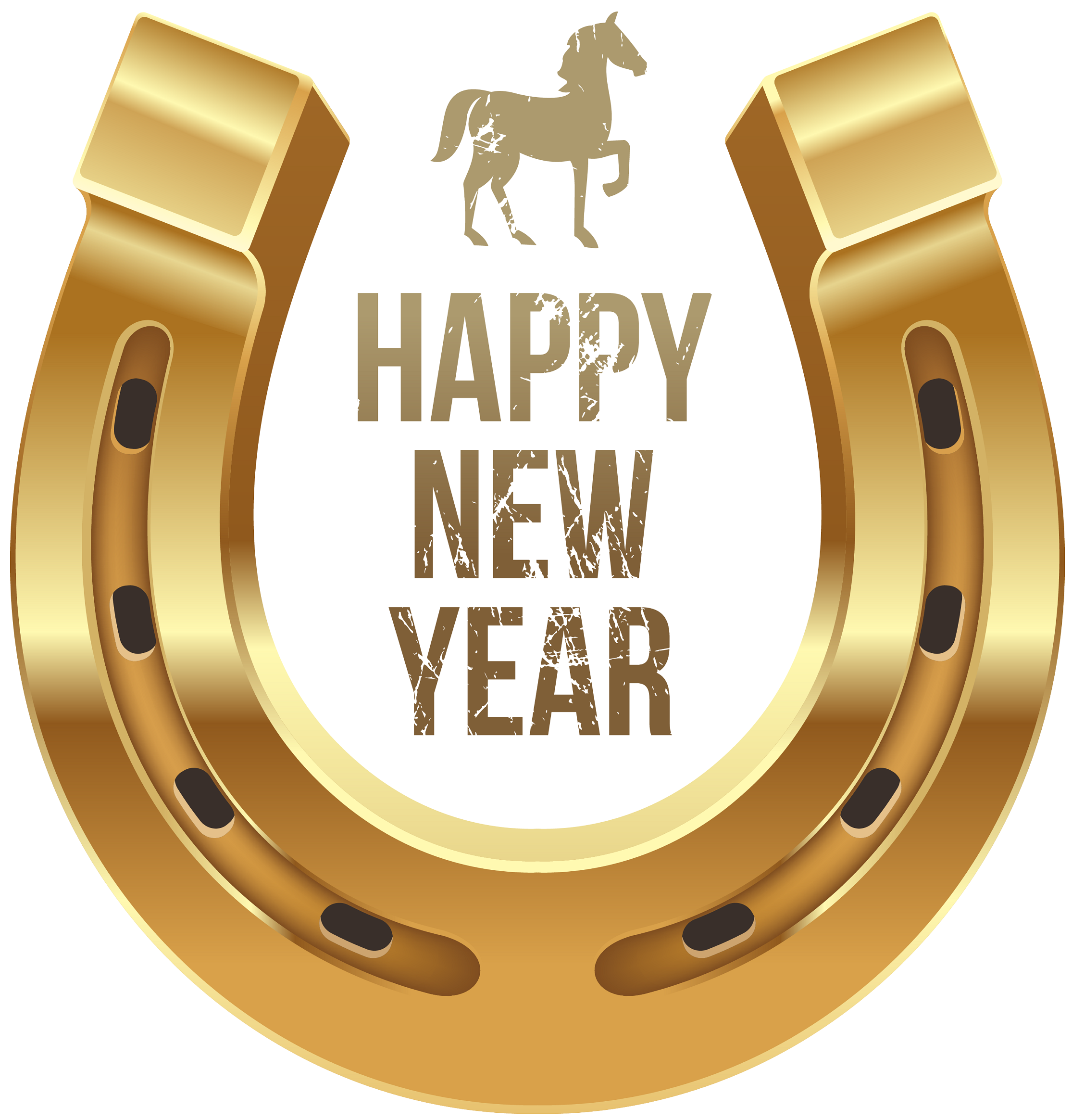 Happy New Year good luck horseshoe | Happy new year png, Vintage happy new  year, Happy new year