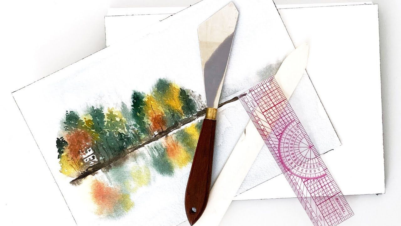 How To Remove A Finished Watercolor Painting From A Block Of Paper