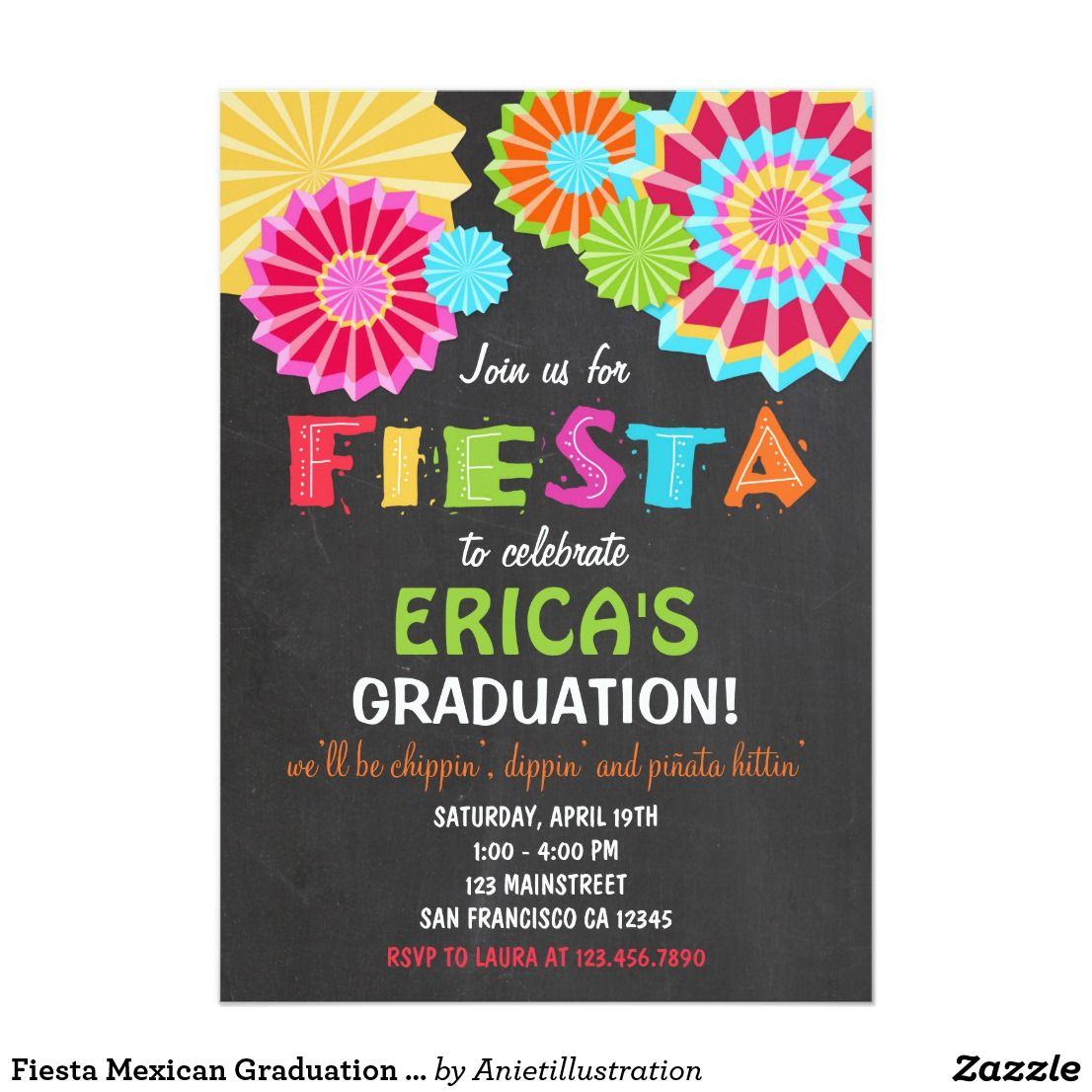 fiesta mexican graduation party invitation in 2018 congrats