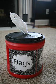 Pinspired Makeover Monday Plastic Bag Container u0026 Snack Container (Recycled) & Pinspired: Makeover Monday: Plastic Bag Container u0026 Snack Container ...