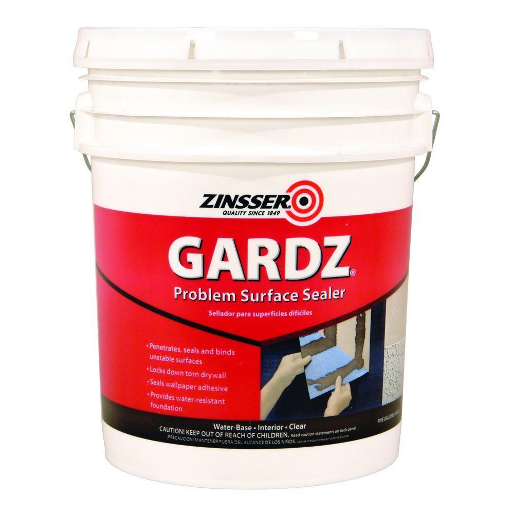 Zinsser Gardz 5 Gal Clear Water Based Interior Problem Surface Sealer 2300 Drywall Repair Surface Adhesive Wallpaper