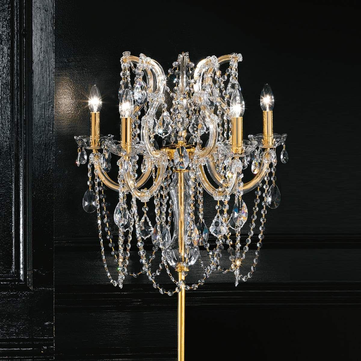 Kristall Stehlampe Annino Von Masiero Gold Swarovski Stehlampe