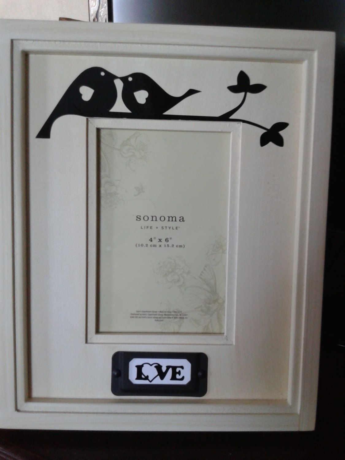 4x6 Sonoma Picture Frame from Kohls, Love Birds and Tree Branch ...