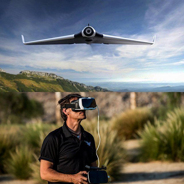 Drone with vr headset