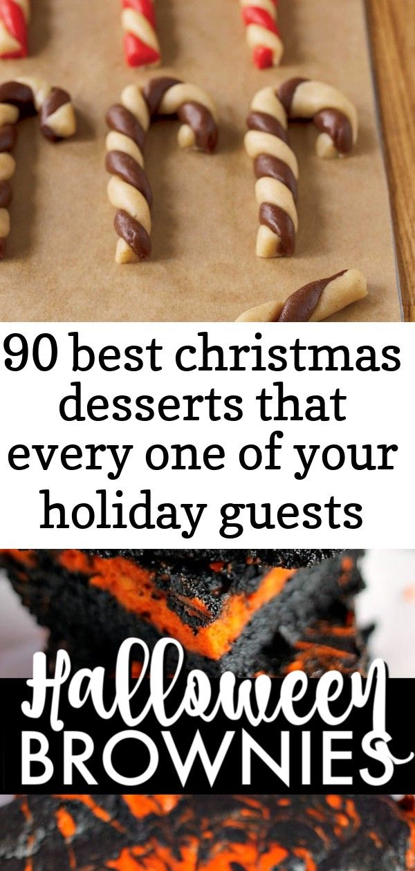 90 best christmas desserts that every one of your holiday guests will love 1 #halloweenbrownies