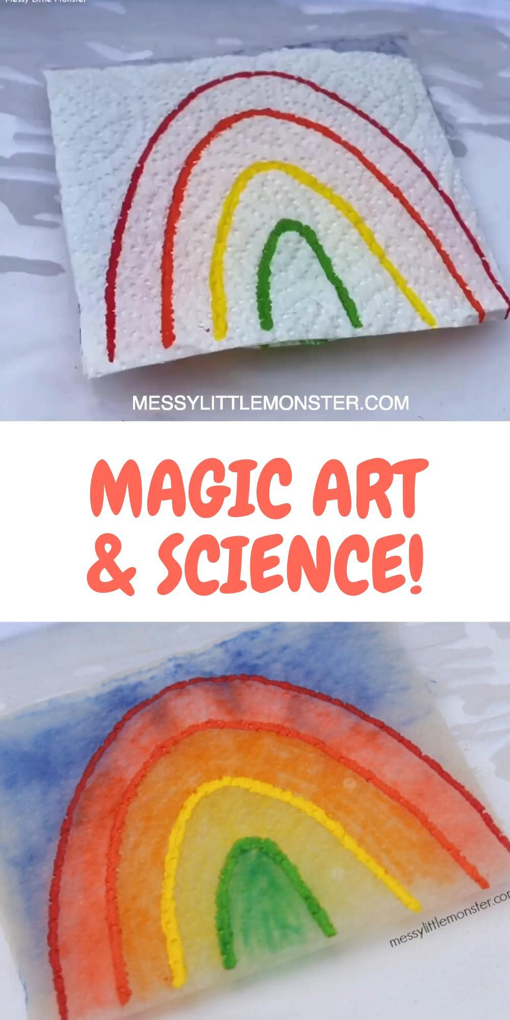 Photo of MAGIC DRAWING PAPER TOWEL ART & SCIENCE EXPERIMENT FOR KIDS