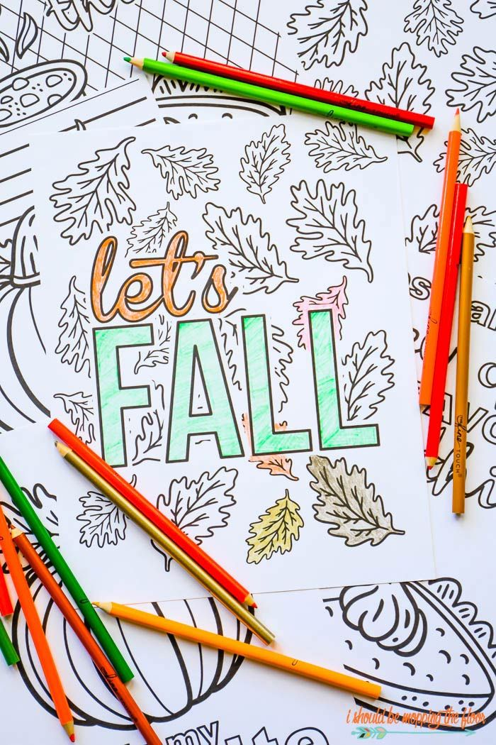 Free Printable Coloring Pages for Fall | Printables | Pinterest