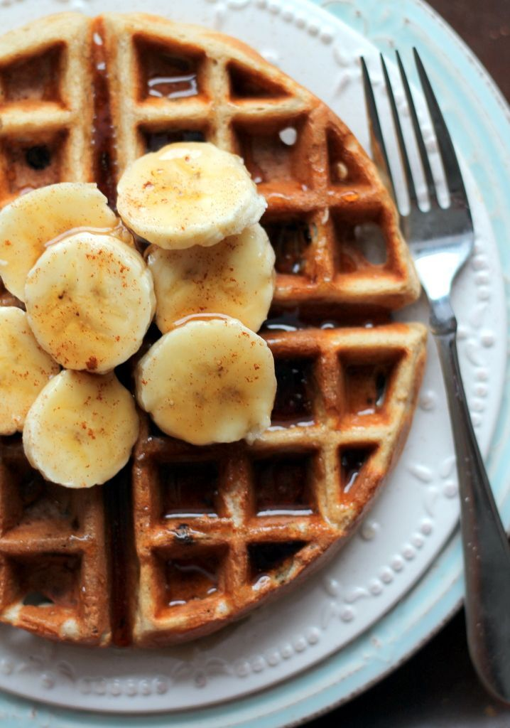 Photo of Banana Chocolate Chip Quinoa Flour Waffles