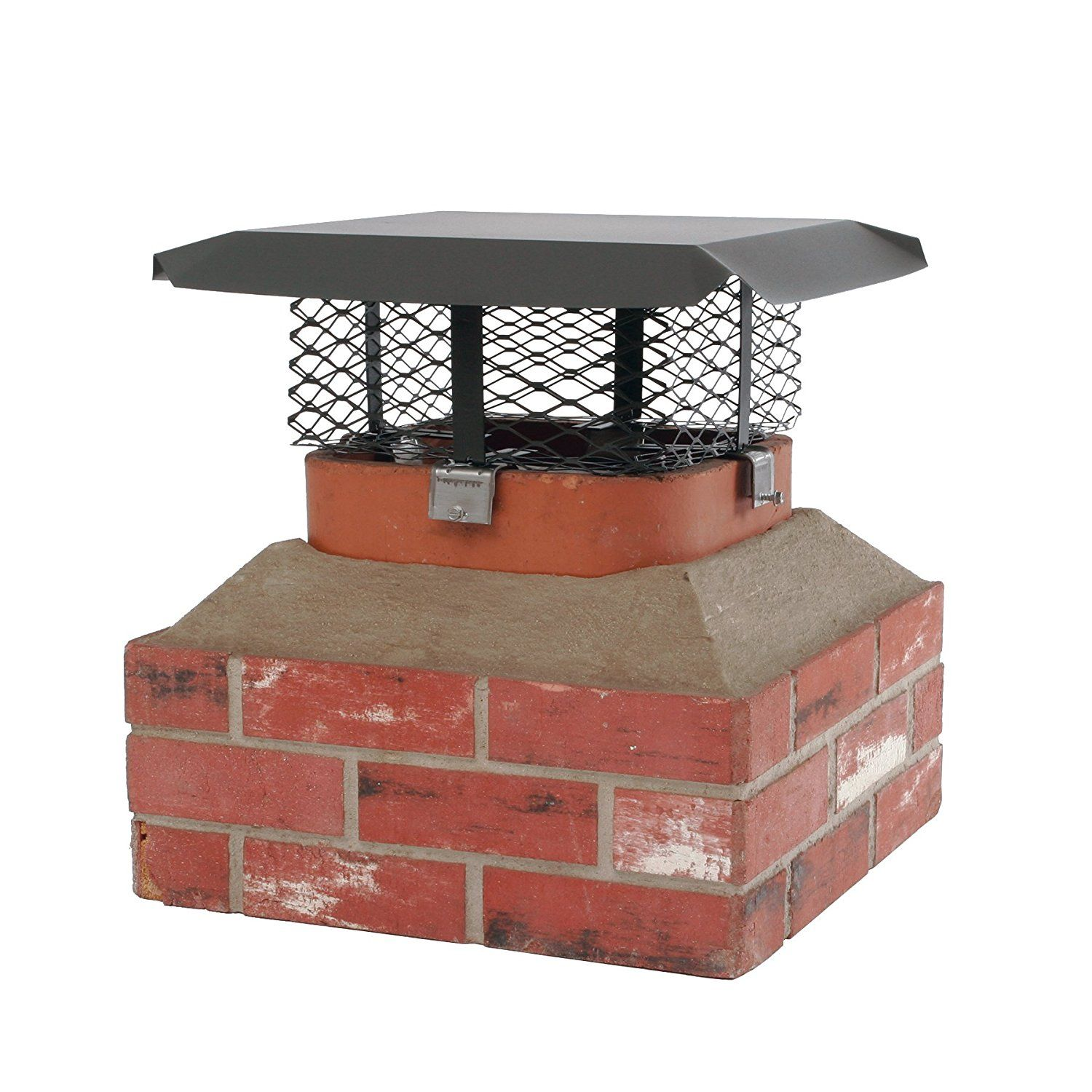 Shelter Scadj L C Adjustable Black Galvanized Steel Clamp On Single Flue Chimney Cap For Use In California A Chimney Cap Fireplace Accessories Galvanized Steel