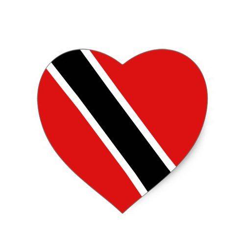 Trinidad And Tobago Flag Heart Sticker Zazzle Com Trinidad And Tobago Flag Tobago Flag Trinidad And Tobago