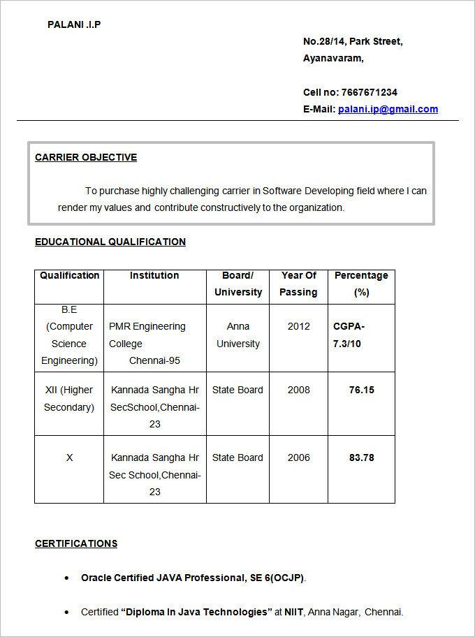 Resume Objectives u2013 46+ Free Sample, Example, Format Download - sample resume format download