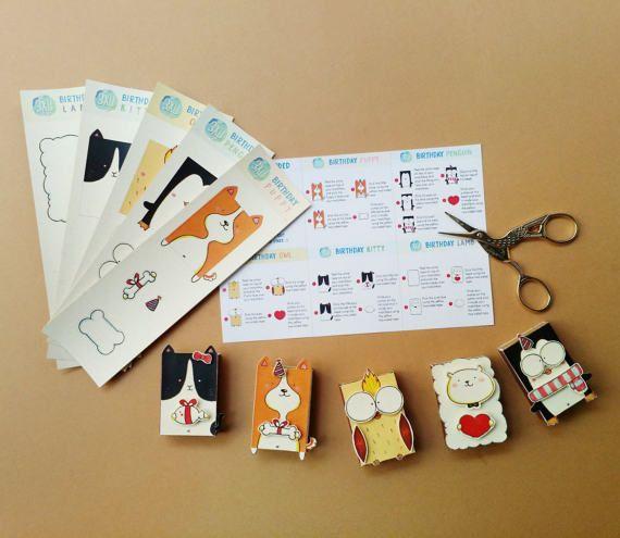 5 DIY Birthday Matchbox Set Funny Card By 3XUdesign