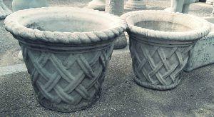 Basket Weave Planter Concrete Garden Art In Tee Florida
