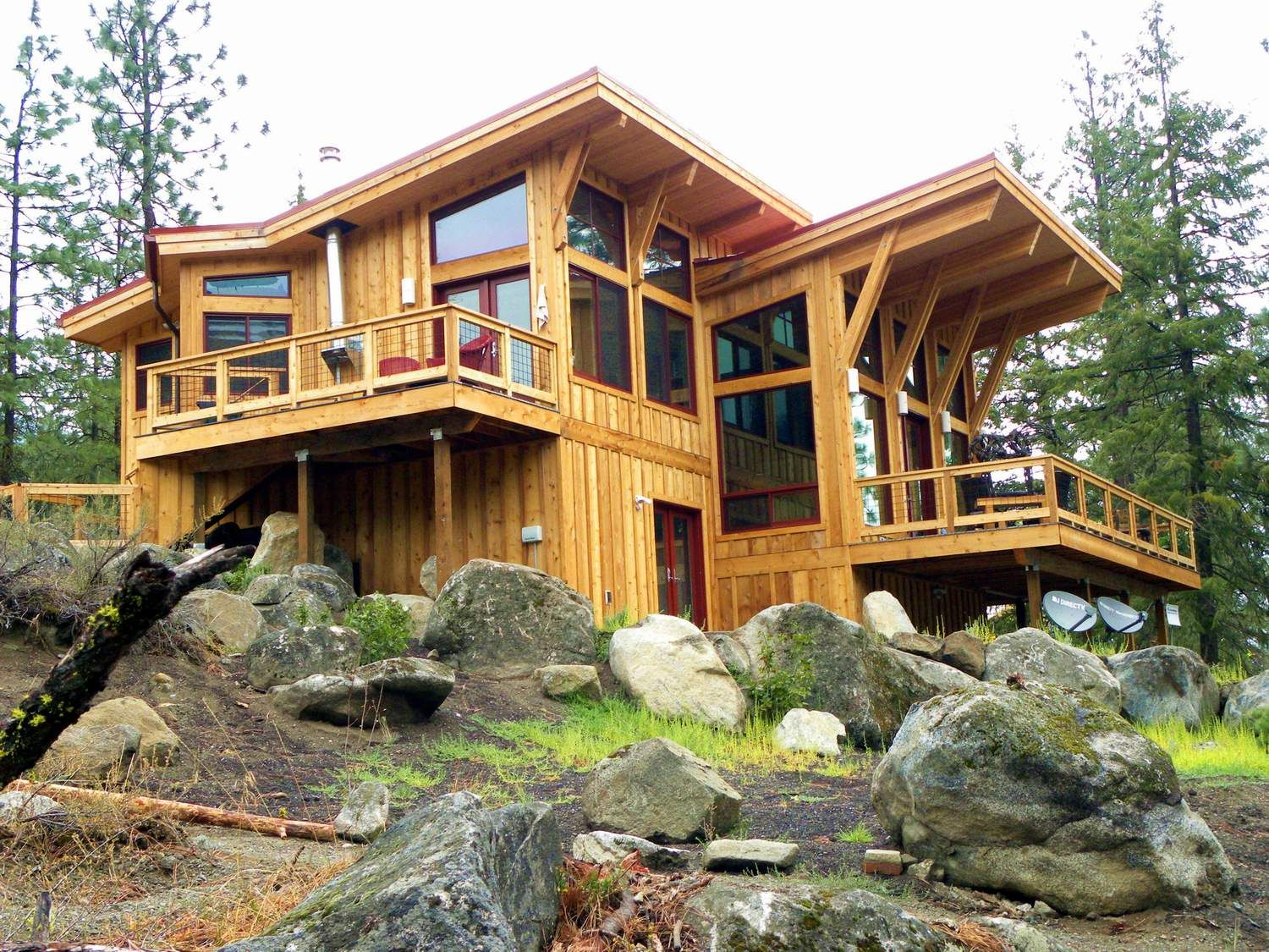 Pan Abode Homes Cabins and cottages, Modern mountain home