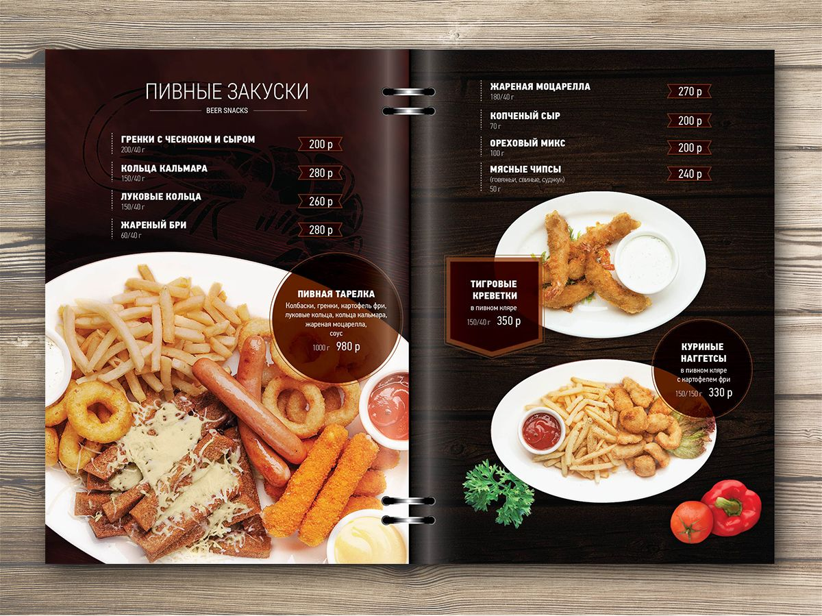 Print Design Of Menu For Restaurant Food Photo Collage  Menu
