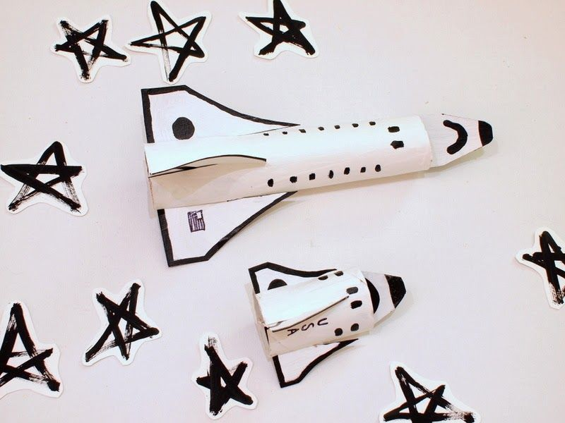 Cardboard Space Shuttle Craft (template Included