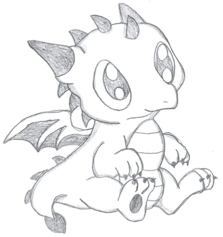 Baby Dragon Coloring Pages Fresh Free Dragon Coloring Pages For Kids Coloring Pages Patinsudouest Easy Dragon Drawings Cute Dragon Drawing Dragon Drawing