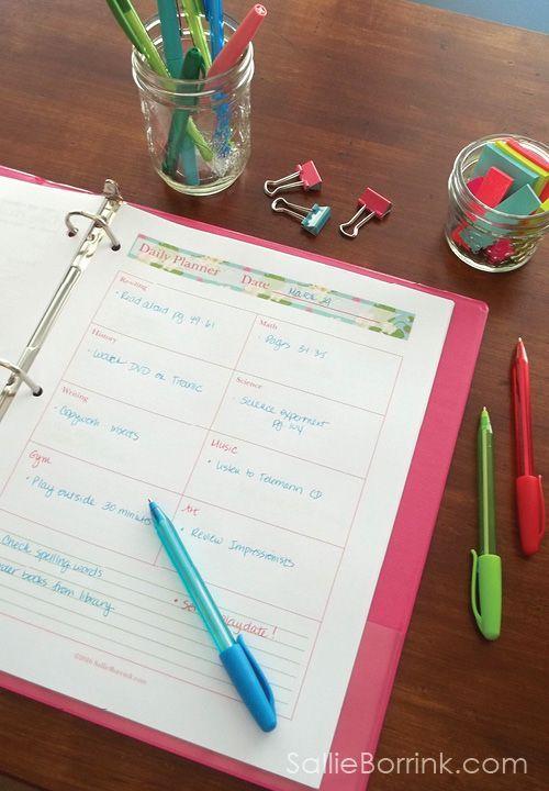 Homeschool Printable Planners and Editable Printable Planners ...
