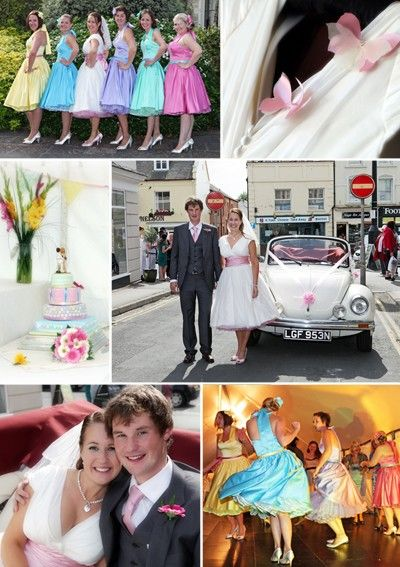 50s Style Wedding Yeah I Could See Myself Doing It Especially The Bridesmaids