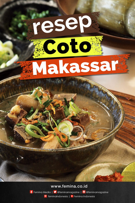 Resep Coto Makassar Resep Resep Masakan Indonesia Resep Daging Sapi