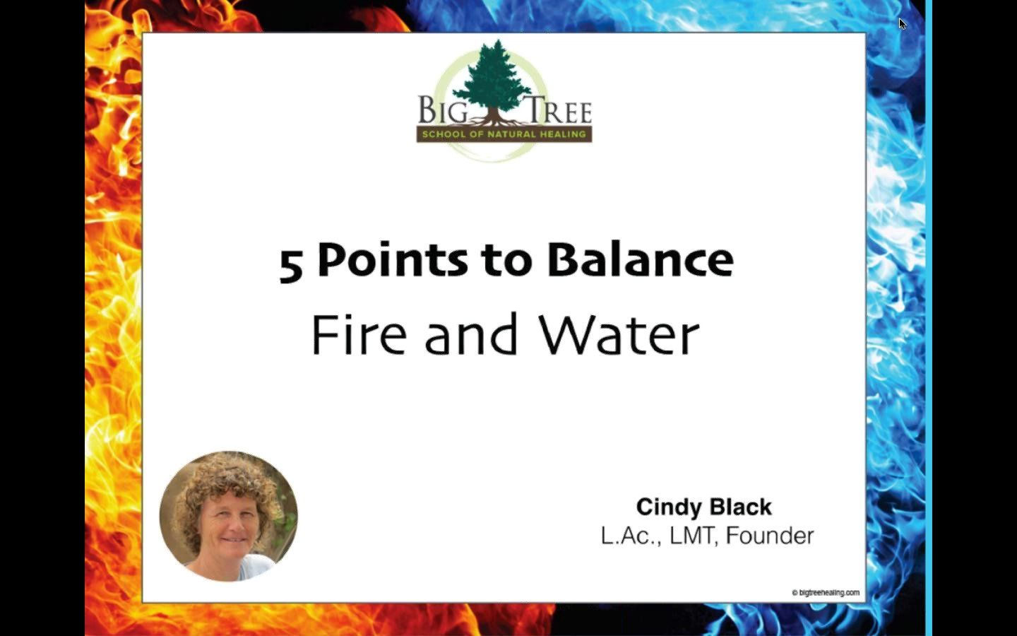 5 Points to Balance Fire and Water