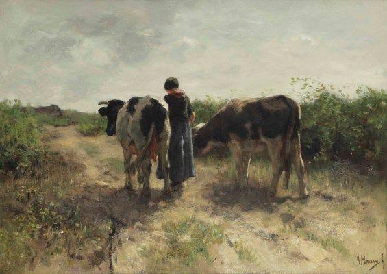 Anton Mauve (Zaandam 1838-1888 Arnhem)   Homeward bound   Paintings, oil   Christie's