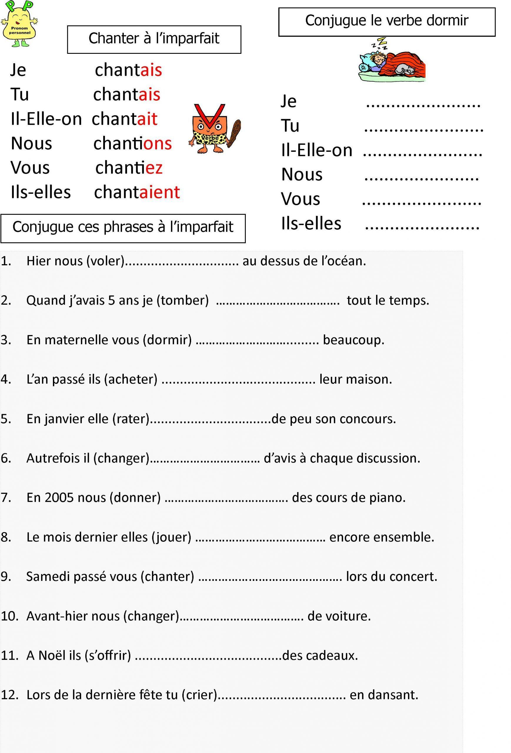 L 039 Imparfait Lecon Et Exerices Pour Ce1 Ce2 Le Blog De Concernant Cours Ce2 A Impr Exercices Imparfait Exercice Ce2 Exercice Francais Ce1