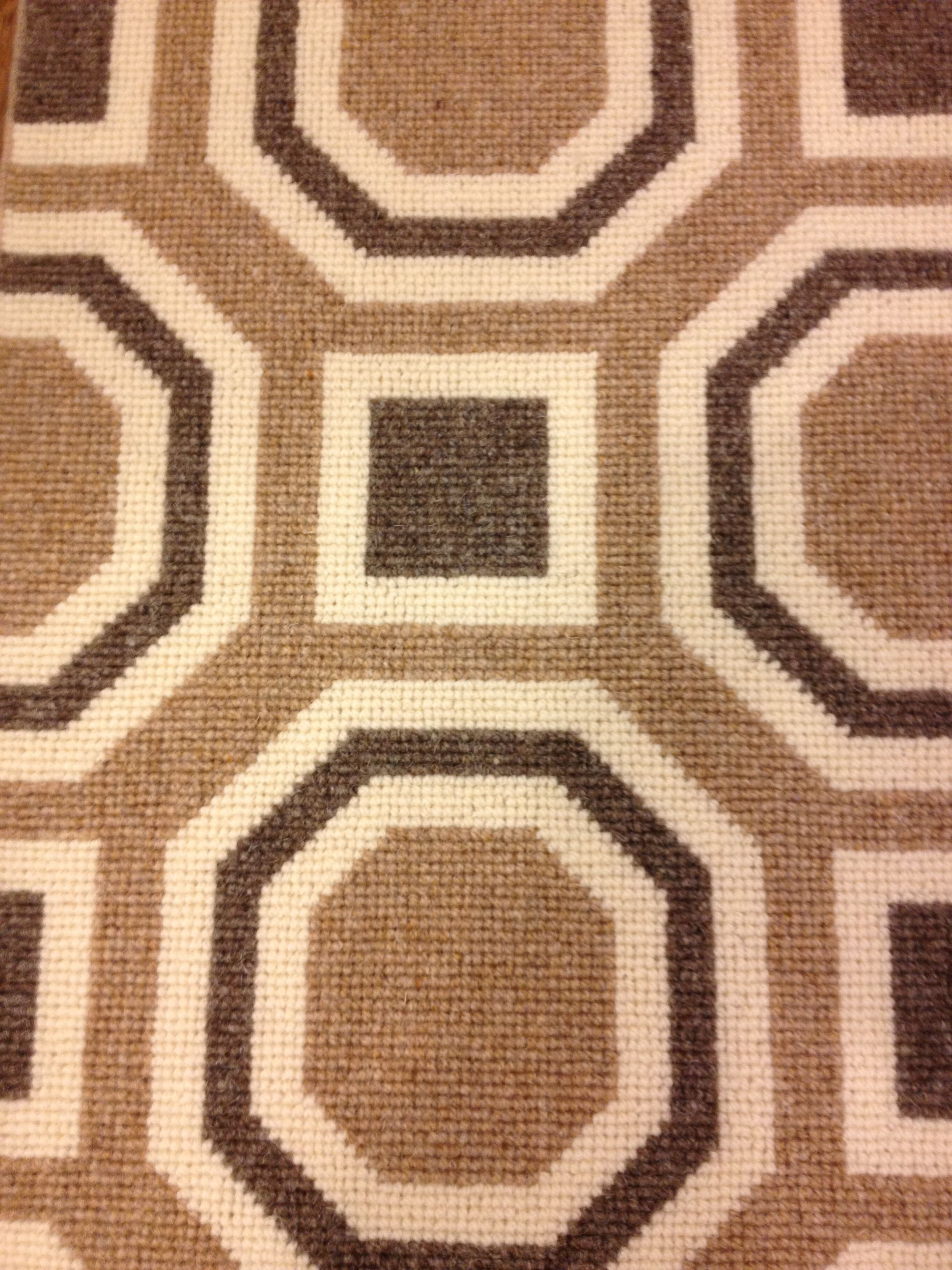 David Hicks Designed Wool Carpet Great Looking Octagon Geometric Pattern Offered For Wall To Installed Or Fabricated Into An Area Rug Of Any