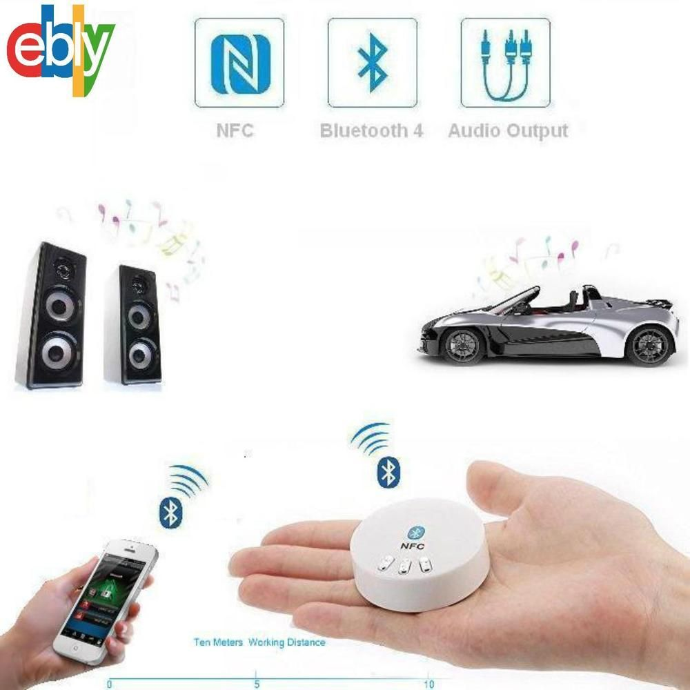 NFC USB 3.5mm Bluetooth Wireless Stereo AUX Audio Music Speaker Receiver Adapter #Sunwee
