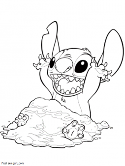 Pin By Jessica Buck On Coloring In Page Printable For Kids Stitch Coloring Pages Disney Coloring Pages Stitch Disney
