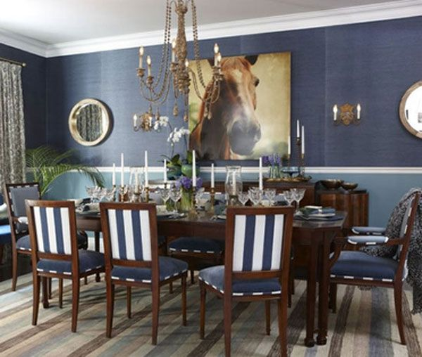 Blue Dining Room: 12 Ideas For Inspiration | Decorating Files |  Decoratingfiles.com