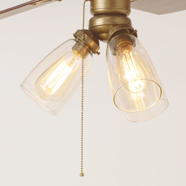 3 Ways To Spiff Up A Ceiling Fan Vintage Filament Bulbs Ceiling