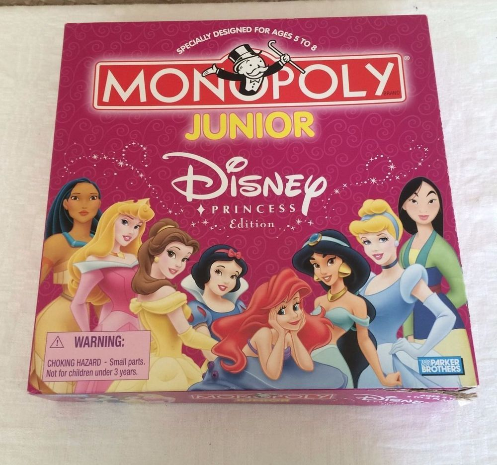 Disney princess monopoly junior board game complete 2004 parker brothers